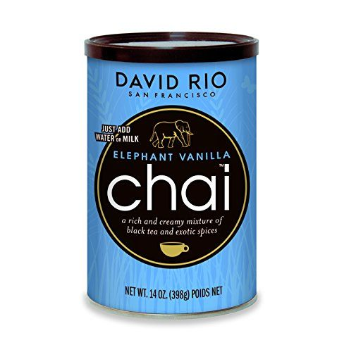 David Rio Chai Mix, Elephant Vanilla, 14 Ounce -- You can get additional details at the image link. #GreenTeaBeverages
