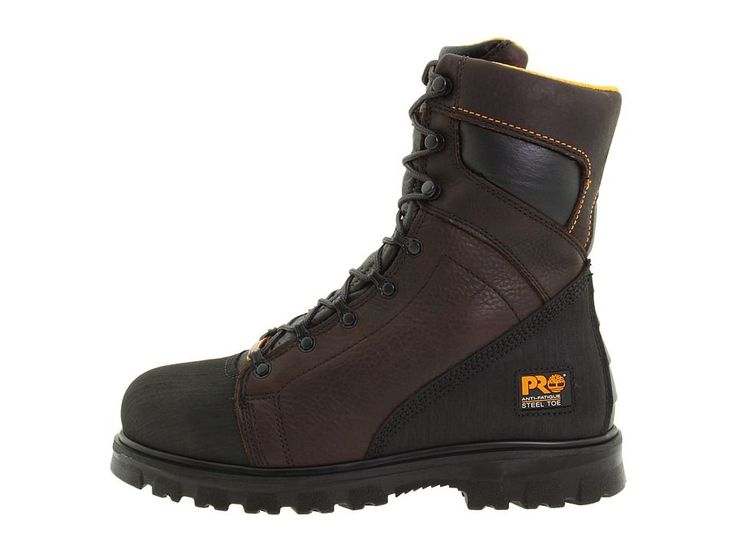 Timberland PRO Rigmaster 8 Waterproof Steel Toe Men's Work Lace-up Boots Dark Brown/Black