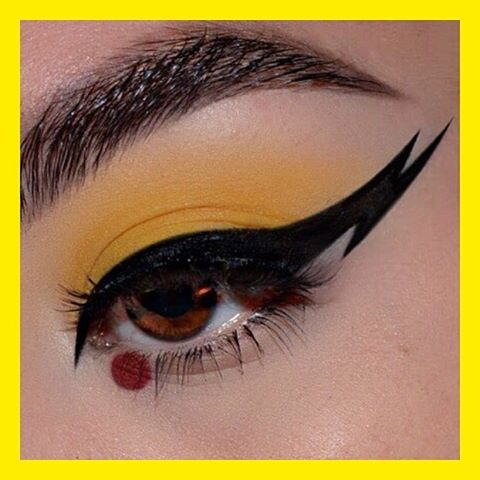 WHO'S THAT POKEMON?!  @alexalink used #Tattoo Liner in #Trooper for this #Pikachu inspired look   #katvondbeauty #crueltyfreebeauty #vegan #gottacatchemall