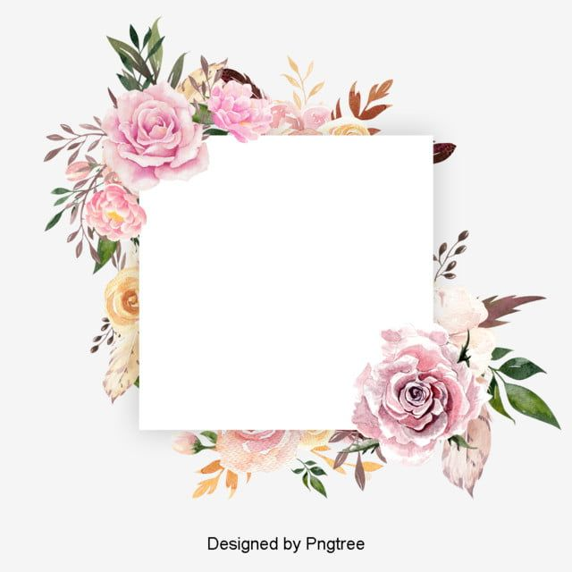 Beautiful Paint Watercolor Floral Wreath Flower Flowers