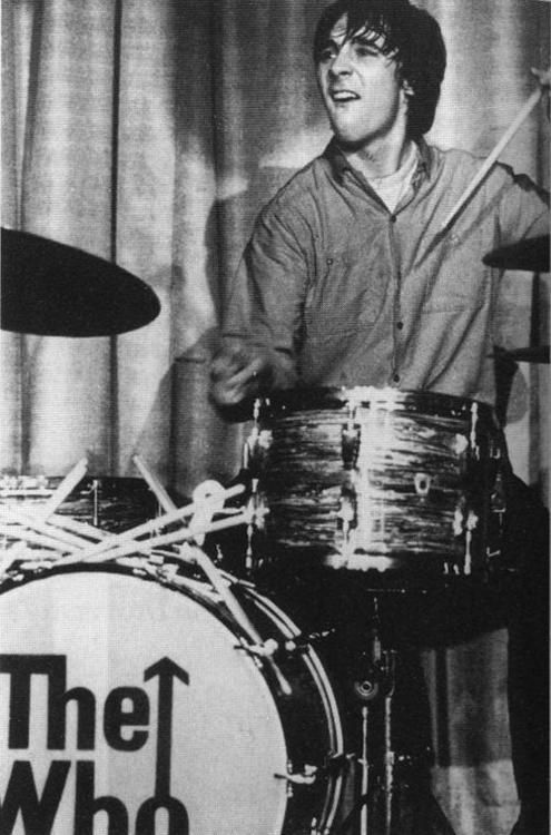 The Whos Keith Moon in full on whirlling dervish mode or drumming as it was otherwise known!