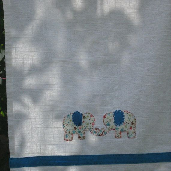 Multicoloured Elephant Tea Towel