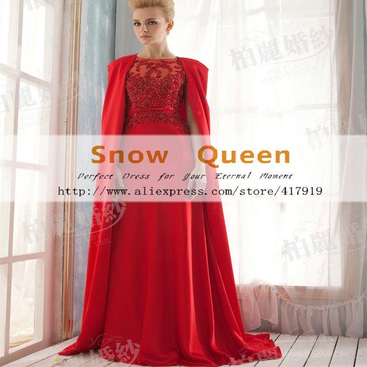 Купить товарНастоящее 2016 красные длинные вечерние платья элегантный с мыса кружева обручальное красный вечернее платье день рождения RE152 в категории Вечерние платьяна AliExpress. 2015 Fashion Hot Sale Grace A-line Evening Gowns O Neck 3/4 Sleeve Lace Sequins Long Prom Coral Evening Dress Engagement