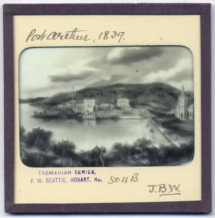 Lantern Slide of Port Arthur, Van Diemen's Land, 1839.