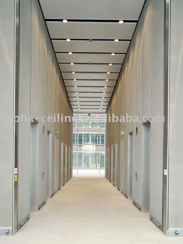 Metal Panels- lower level corridor