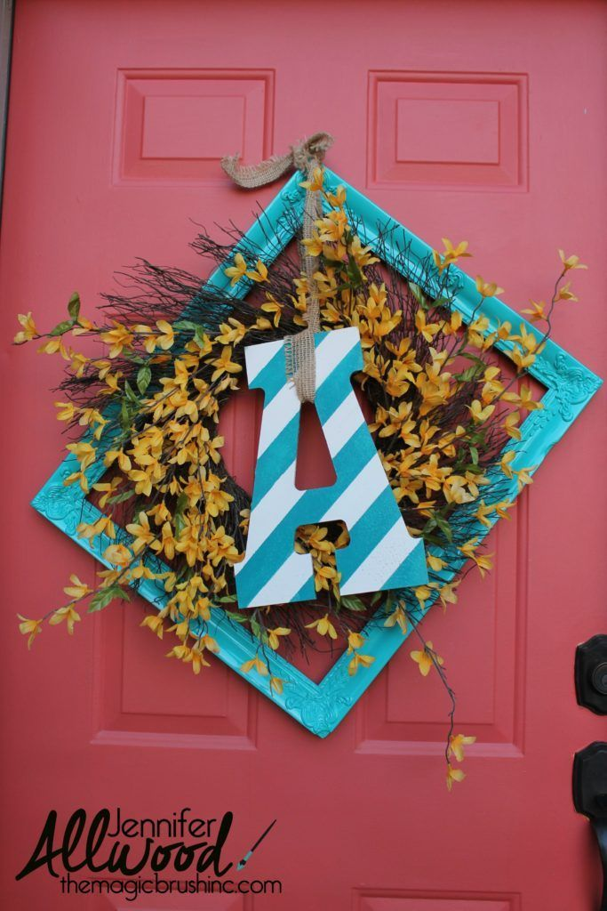 Front door decor for spring and summer