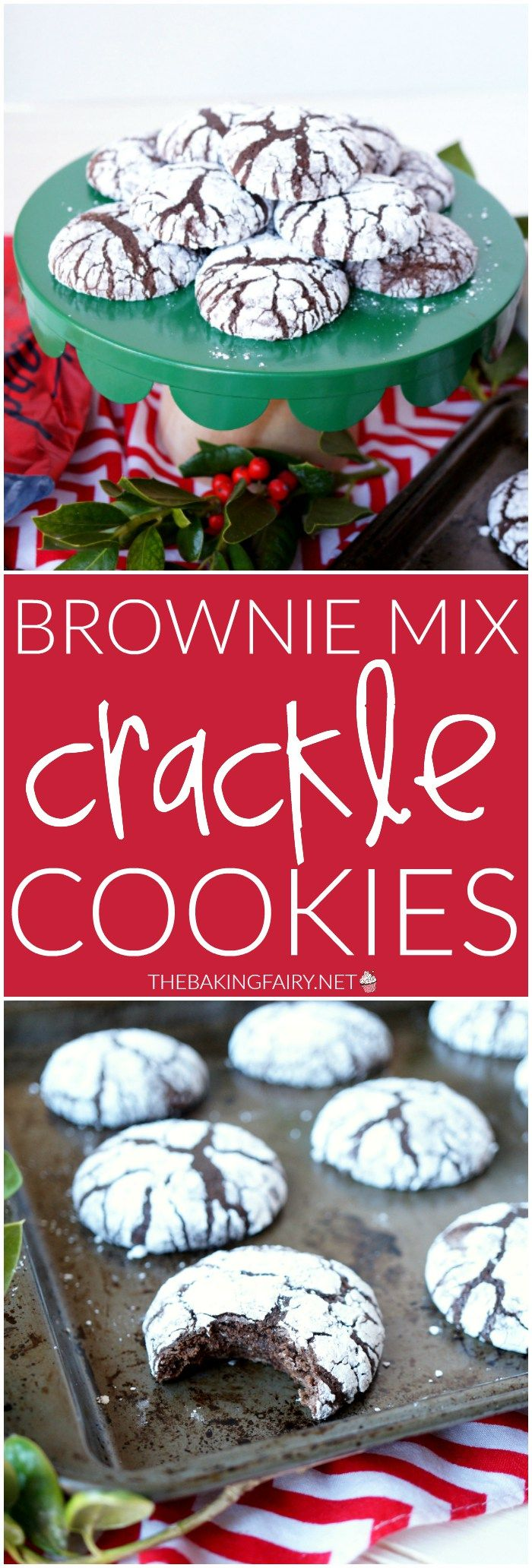 Brownie Mix Crackle Cookies are SO easy to make and the perfect addition to your holiday cookie trays! Sponsored by Dunkin' Donuts. #DunkinAtHome #BakerySeries #ad