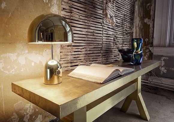 Bell Brass Table Light