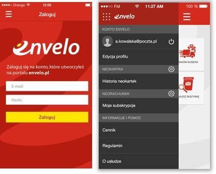 aplikacja #Envelo na telefon - polecam...