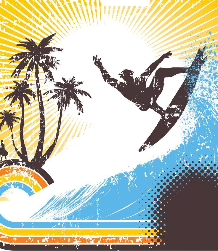Surfing graphic