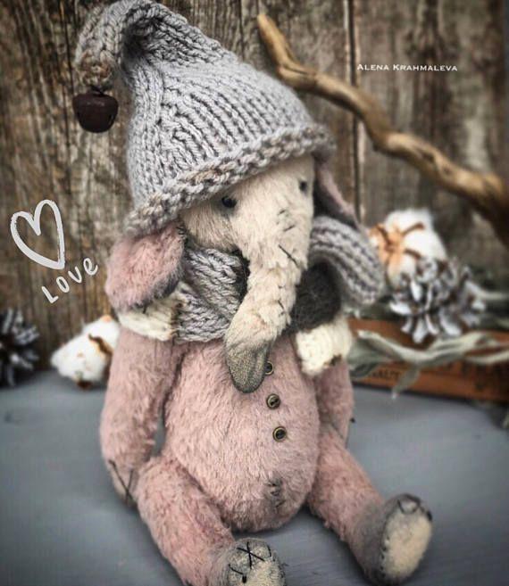 Friend teddy bear ooak elephant