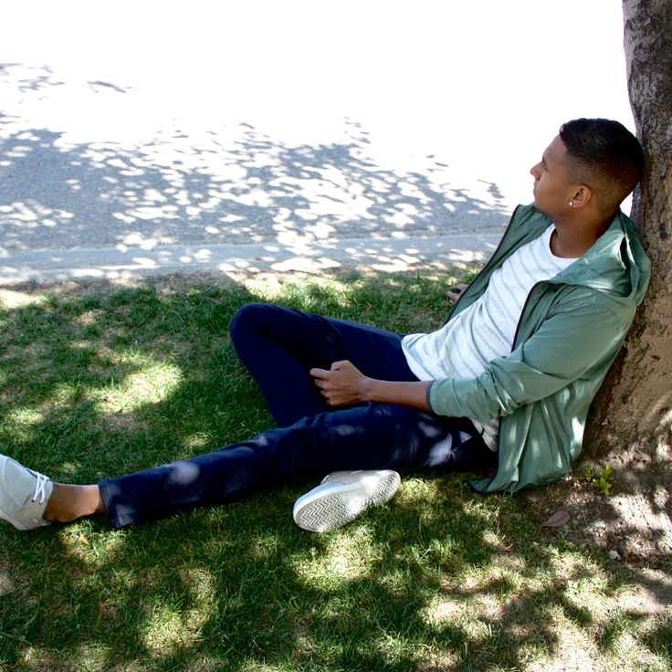 Relax. the weekend awaits.  #fashion #springfashion #menswear #relax #weekend #stylish #trees #model #outfit  Shop this look at www.kixs.ca
