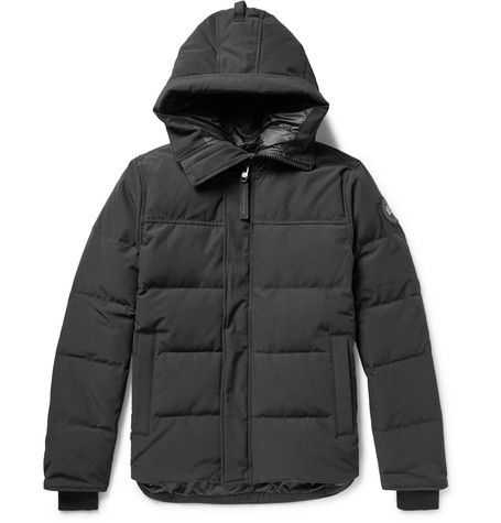 CANADA GOOSE CANADA GOOSE - BLACK LABEL MACMILLAN QUILTED SHELL HOODED DOWN PARKA - BLACK. #canadagoose #cloth #