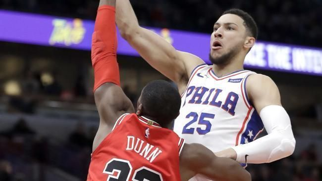 NBA: Ben Simmons' 76ers vs Chicago Bulls live coverage scores blog updates video