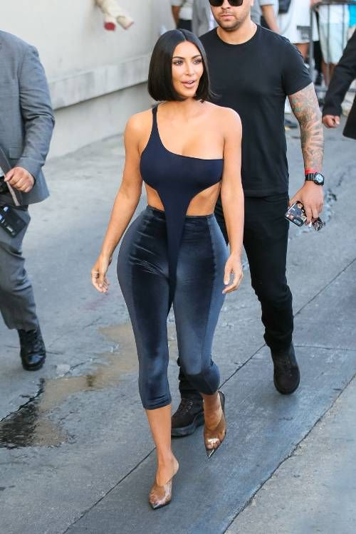 9b85938ce5812 So Many Questions About Kim's Latest Outfit—You Have to See It From ...