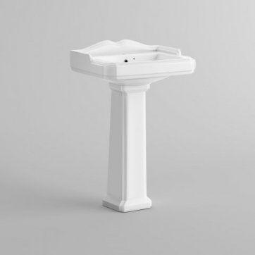 Victoria Basin & Pedestal - Single Tap Hole [PT-CB629FB1] - £89.99 : Platinum Taps & Bathrooms
