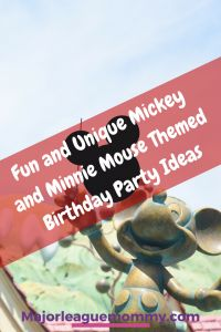 Fun and Unique Mickey and Minnie Mouse Birthday Party Theme Ideas