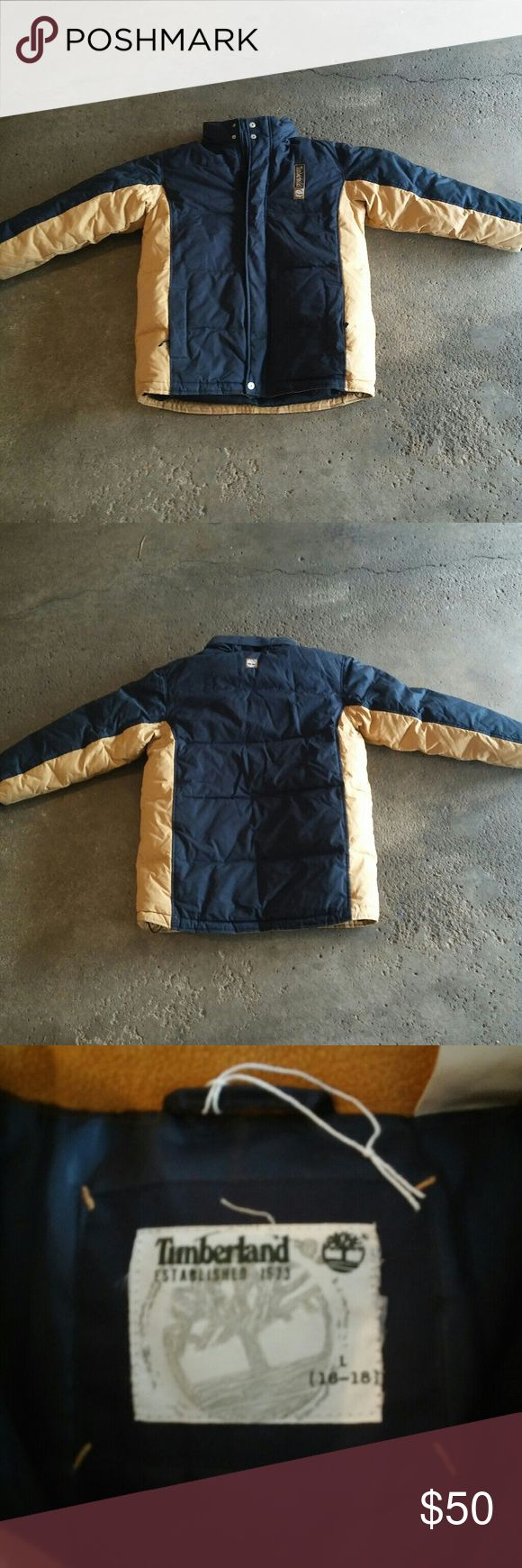 Heavy Large Timberland Coat In great condition Large Kid's heavy coat. Will ship within 24-48Hrs Let me know if you have any questions Thanks for looking:-D Timberland Jackets & Coats
