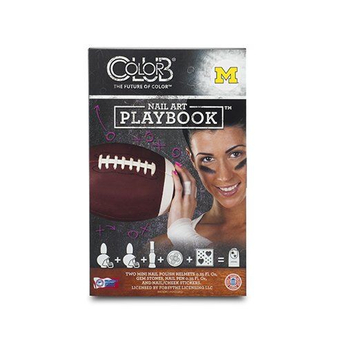 MICHIGAN WOLVERINES PLAYBOOK NAIL ART KIT-UNIVERSITY OF MICHIGAN NAIL POLISH AND NAIL ART KIT *** Read more reviews of the product by visiting the link on the image.