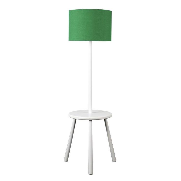 dempsey white wooden tripod floor lamp u0026 table 81