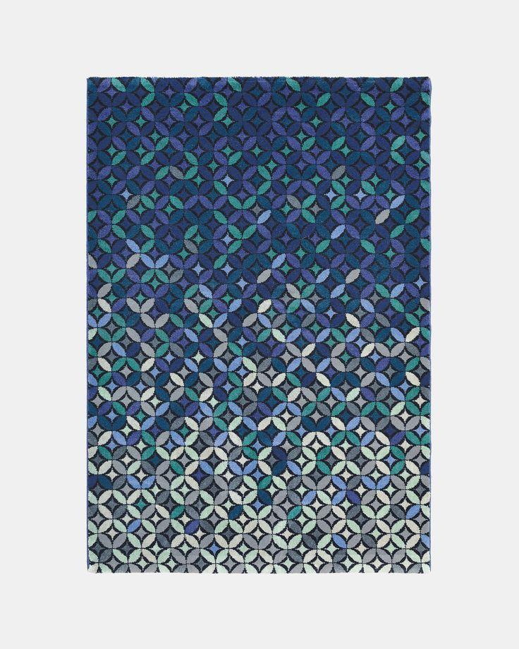 Ted Baker Cosmo wool-blend medium rug Teal