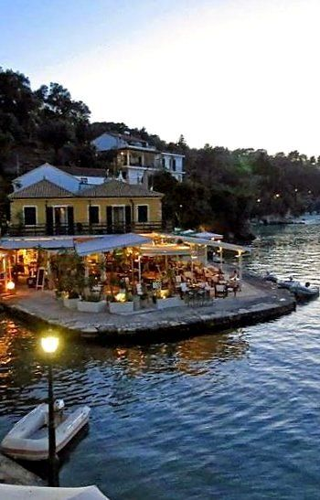 A relaxing evening in Lakka, Paxos Island, Greece