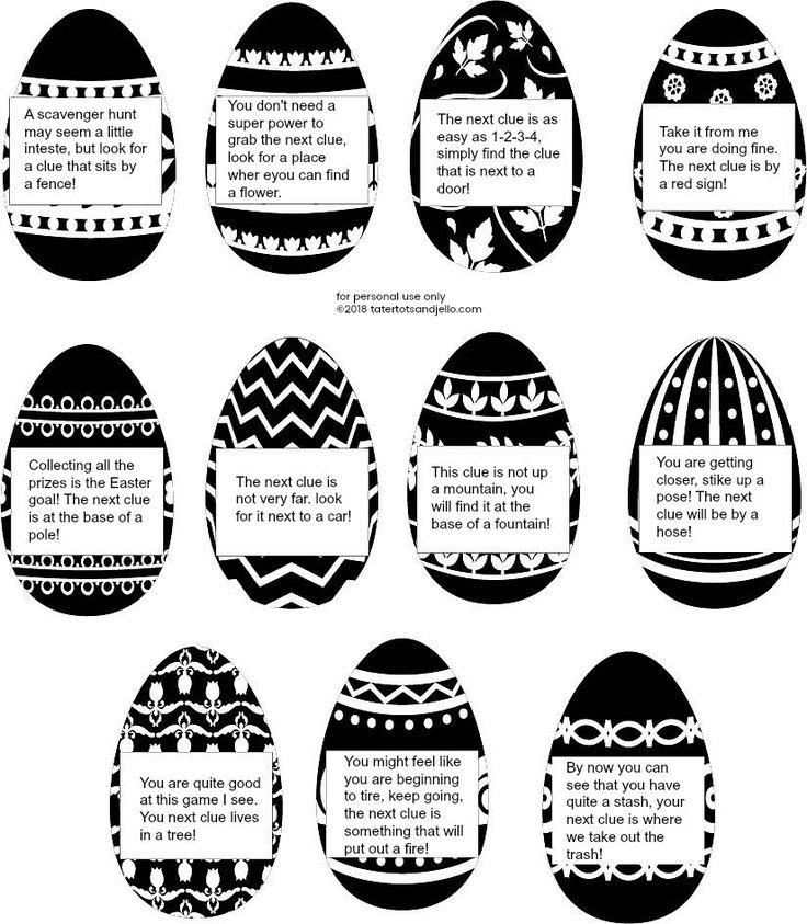 Kids Outdoor Easter Scavenger Hunt with Printable Clues