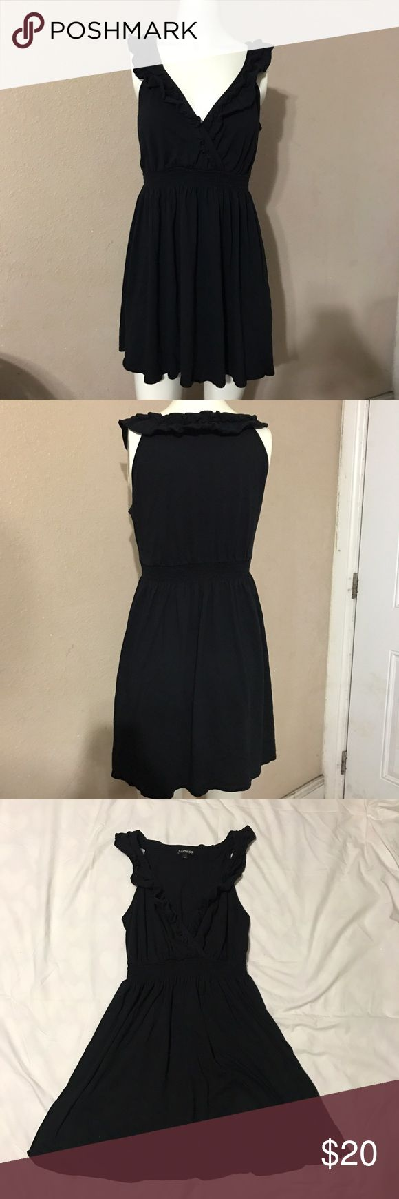Express Petite Black Dress In great condition! Size Small in petites. Express Dresses