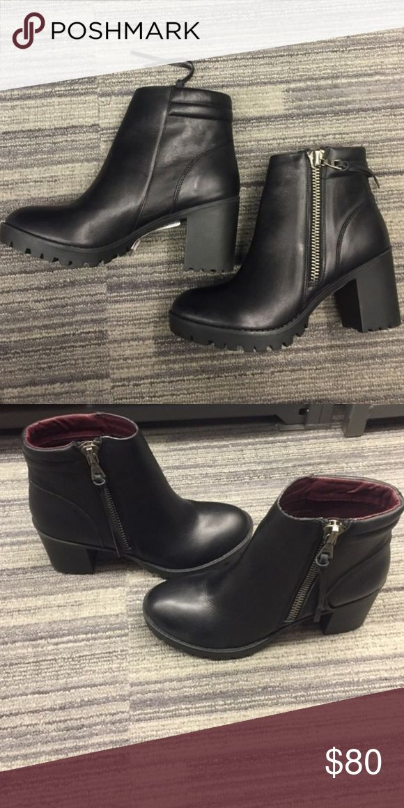 Steve Madden Norwayy Booties High heeled platform Chelsea boots that are a little small for me. Wore on one 10 day trip, good-great condition. Steve Madden Shoes Ankle Boots & Booties