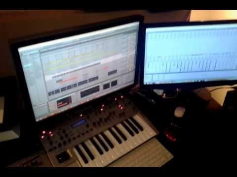 Studio time: Final settings of my new remix for Raffaello Bonaga with ti...