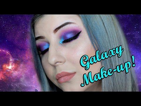 Machiaj de vara | Galaxy eye make-up - YouTube