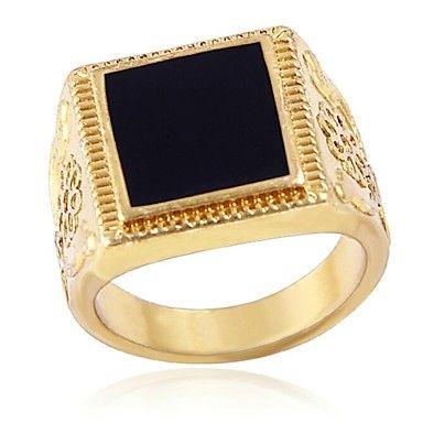 kina vind droppmönster mens fyrkantiga ringar (hualuo smycken) – SEK Kr. 14