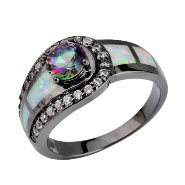 A queenly gem inspired by the sons of anarchy, this intricate jewelry with lustrous black opal is crafted to beautify your hands.