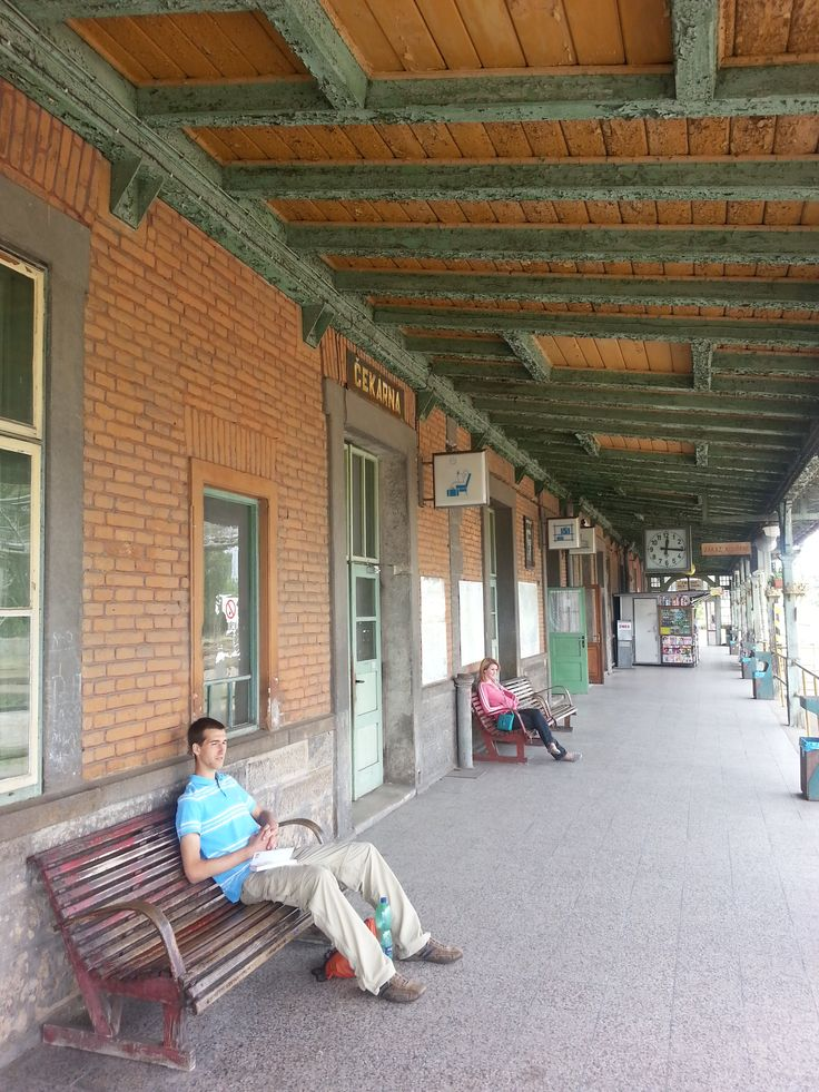 Waiting for the train in the Czech Republic.