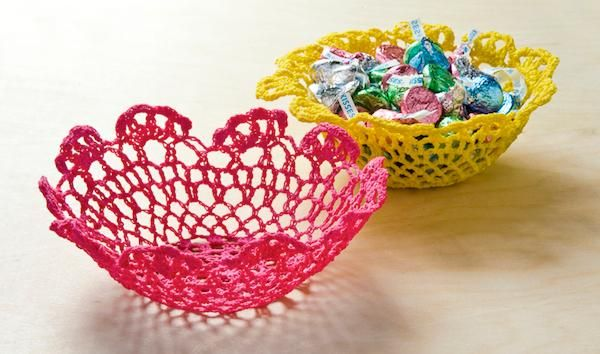 How to make Stiffy bowls from doilies