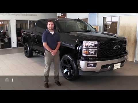 2014 chevy silverado w blackout accessories lift kit video and overview at markquart motors. Black Bedroom Furniture Sets. Home Design Ideas