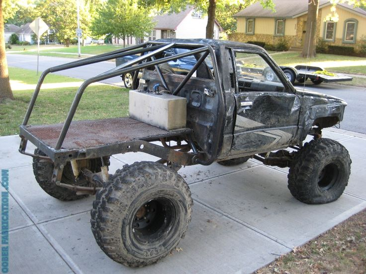 Had a request to build a simple roll cage on a mid '80's Toyota offroad truck. The design came out simple and affordable, yet strong enough to protect the occupants in a rollover. Obviously there c...