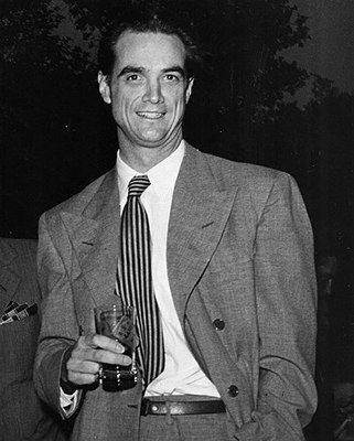 Howard Hughes - Multi-millionaire businessman, film producer and director, Howard Hughes (1905 - 1976).  Photo: Slim Aarons 1955