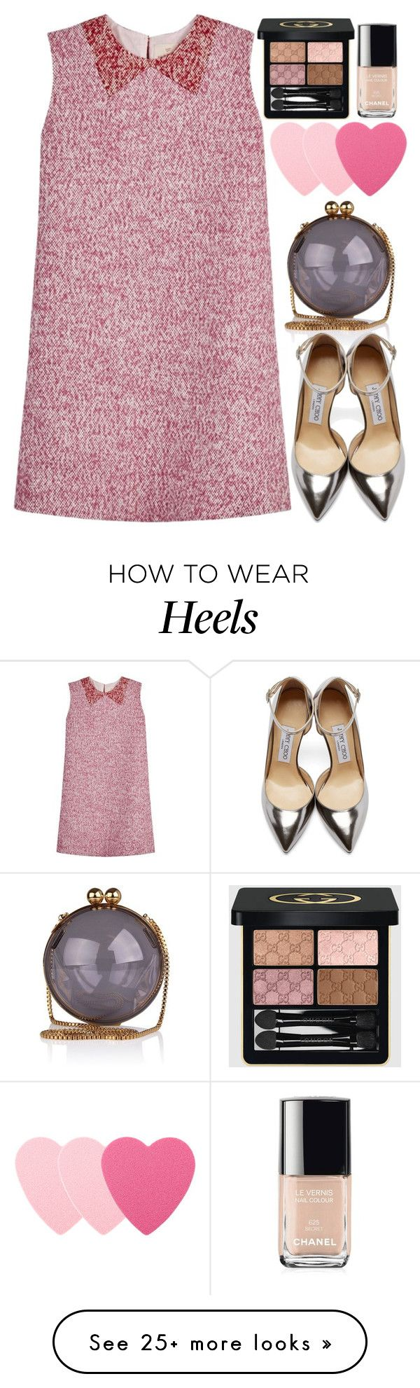"""HHRR"" by krizan on Polyvore featuring Chanel, Jimmy Choo, Sephora Collection, Gucci, women's clothing, women, female, woman, misses and juniors"