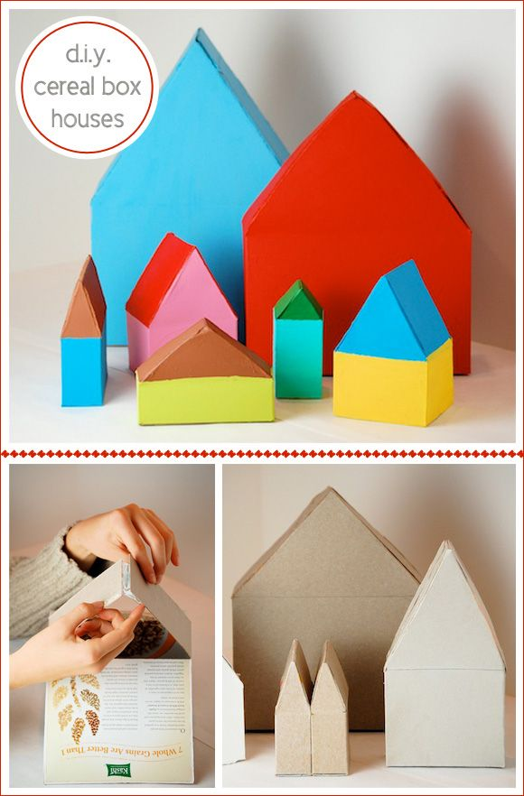 D.I.Y. CEREAL BOX HOUSES BY BELLADIA