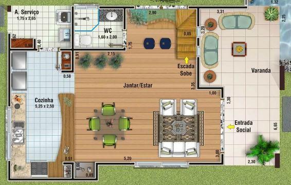Casa 11 plano decasa grande de 156m2 y 3 dormitorios la for Planos de banos