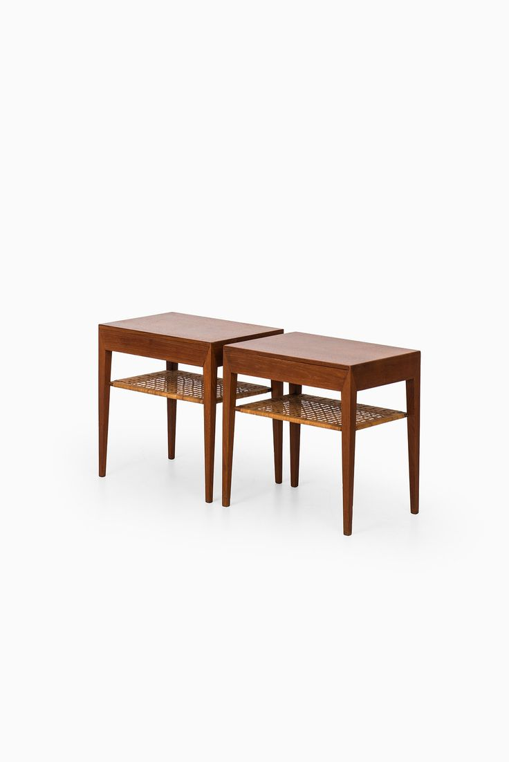 Severin Hansen bedside tables in teak at Studio Schalling
