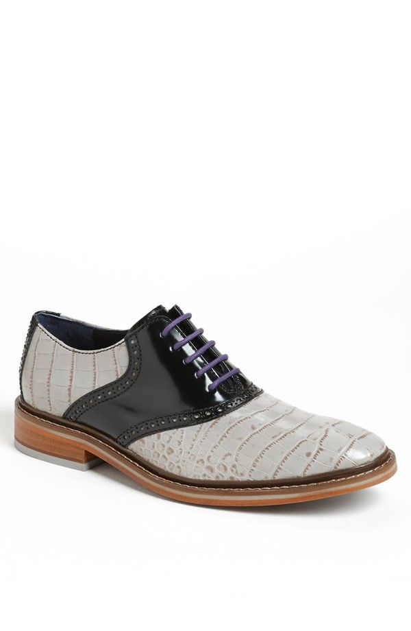 Cole Haan - 'Colton Winter' Saddle Shoe with croc-embossed leather