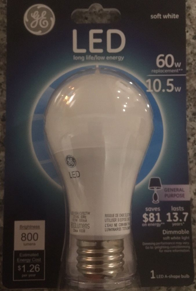 Set of 30 GE LED 10.5W (60W) Long life extra soft white dimmable Light bulb  #GE