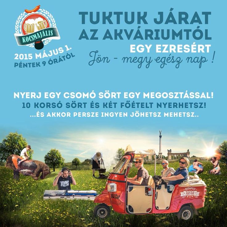 Come to ride with us to the Kocsmajális! #beer #tuktuk #labourday #budapest