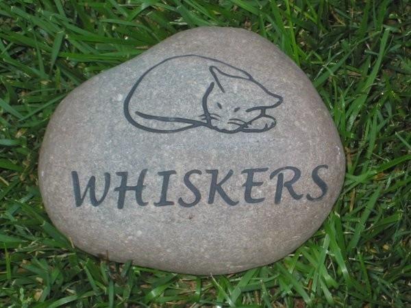 Personalized Cat Memorial Stone 7-8 Inch Memorial Pet Stone Marker Engraved Pet Memorial Burial Tombstone Headstone Grave Marker - Pet Stones   Pet Memorial Grave Markers