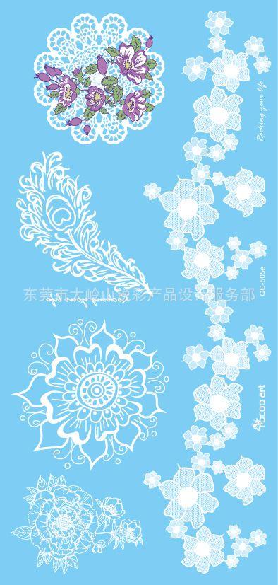 Боди-Арт временная Водонепроницаемый татуировки наклейки для женщин цветы белые свадебные Украшения кружева браслет татуировки оптовая QC8505e