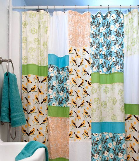 sewing 101: how to make a shower curtain | Design*Sponge