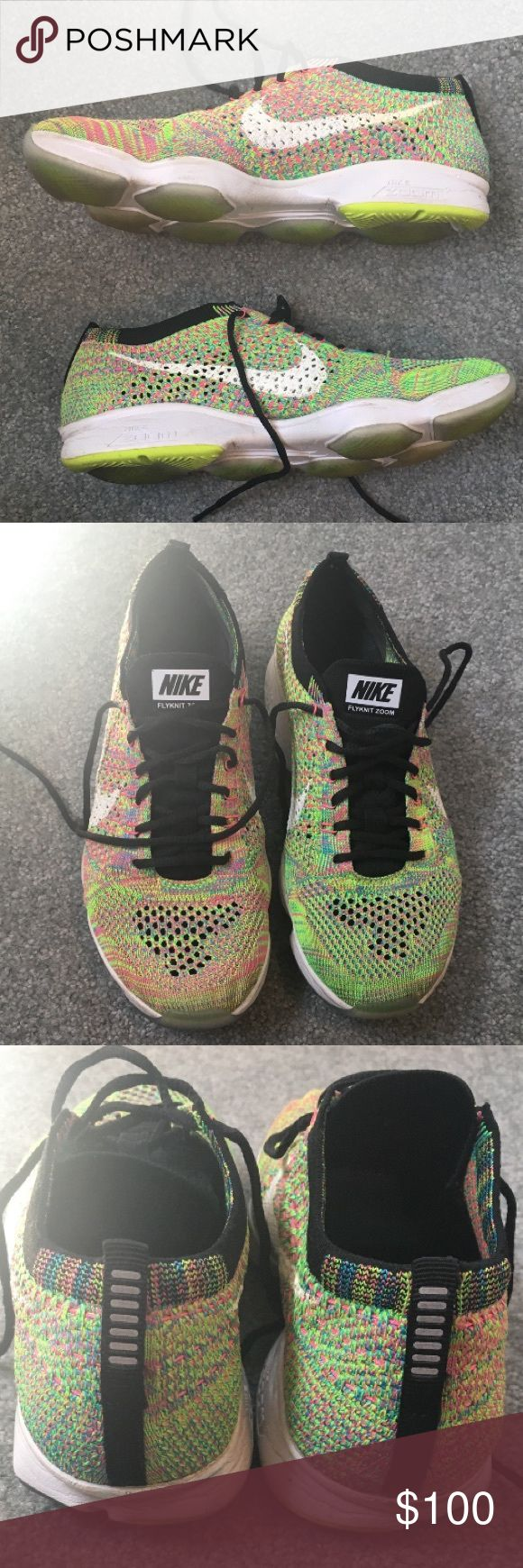 Nike Women's Flyknit Zoom Agility Worn a few times, in good condition. Multicolor colorway, super popular and hard to find. Nike Shoes Athletic Shoes
