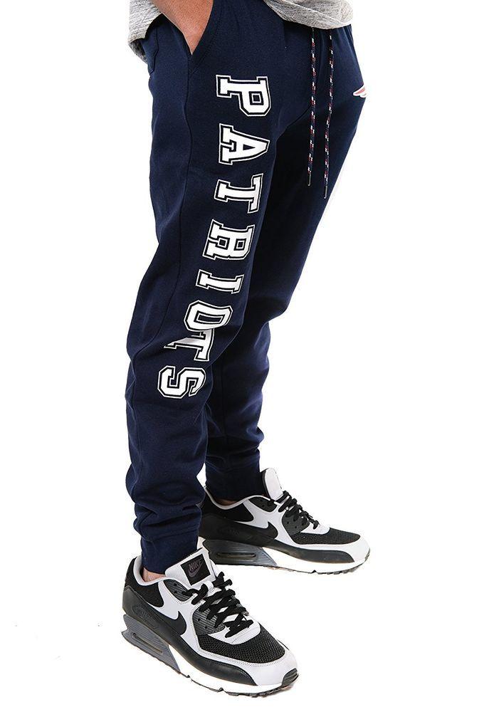 NFL Mens Patriots Logo Active Basic Fleece Jogger Pants, Medium #IcerBrands